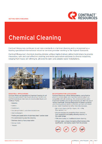 Chemical Cleaning Brochure