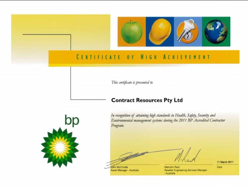 BP Certificate of High Achievement
