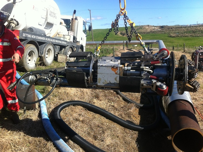 IPV Clean of Condensate Pipe for Geothermal Field