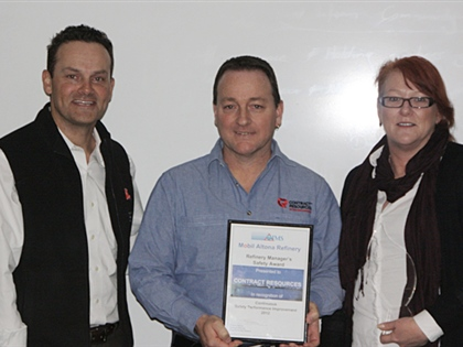 Mobil Manager's Safety Award